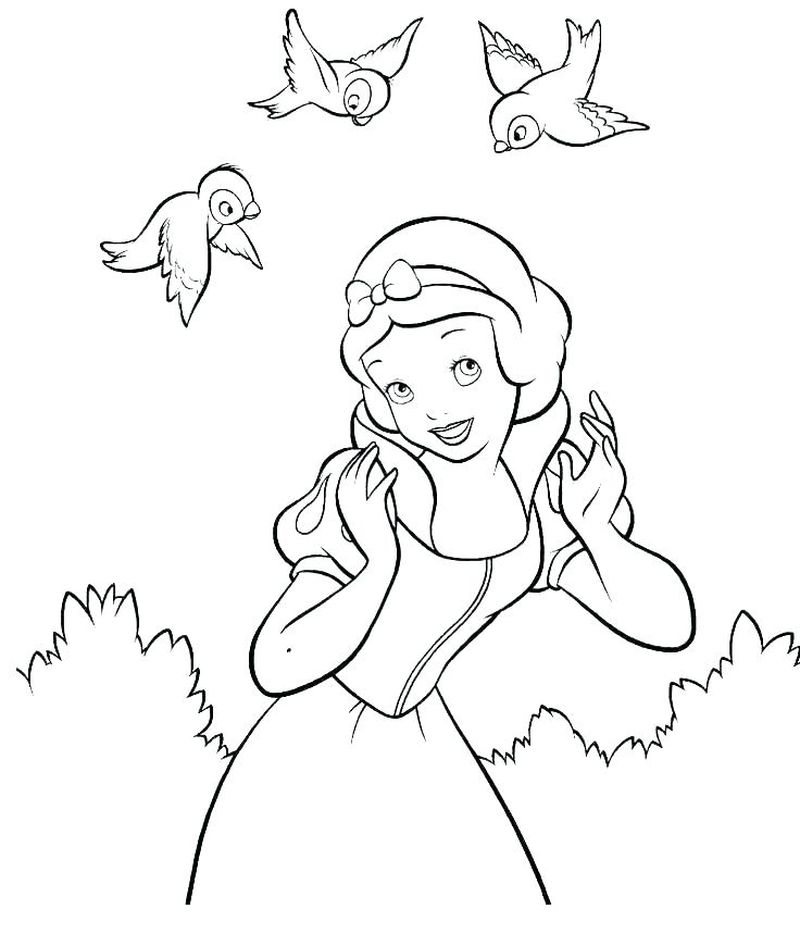 Snow White Dwarf Coloring Pages
