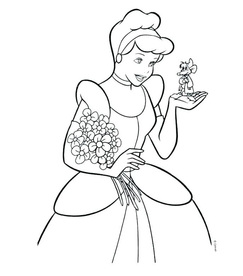 Snow White Poison Apple Coloring Page