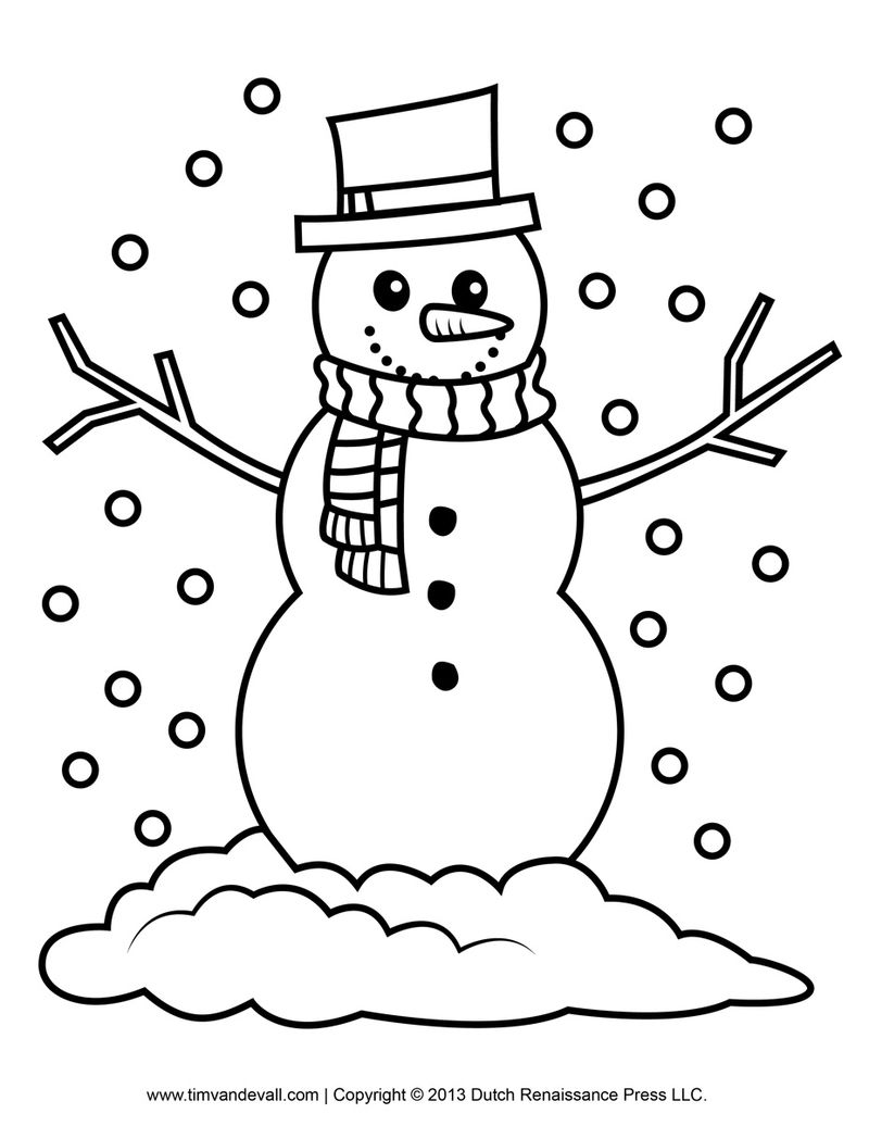 Snowman And Gingerbread Man Coloring Pages