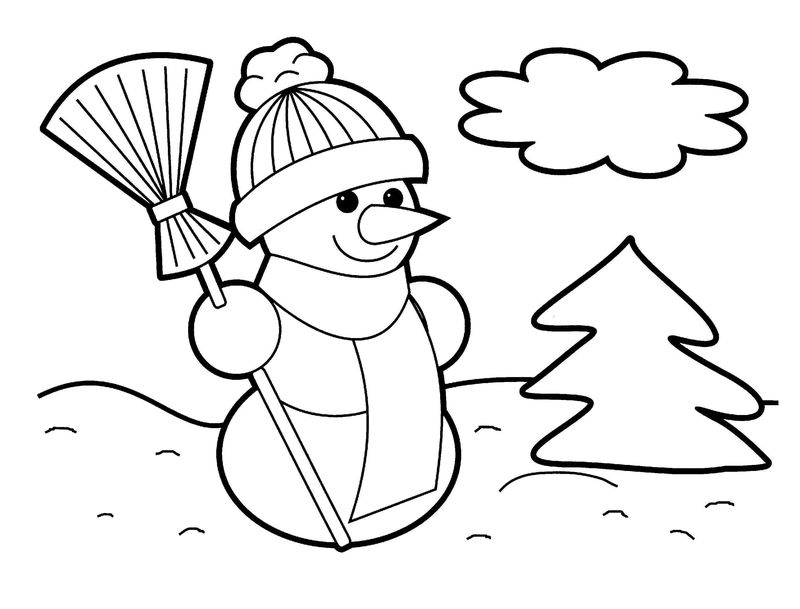 Snowman Coloring Pages For Prek