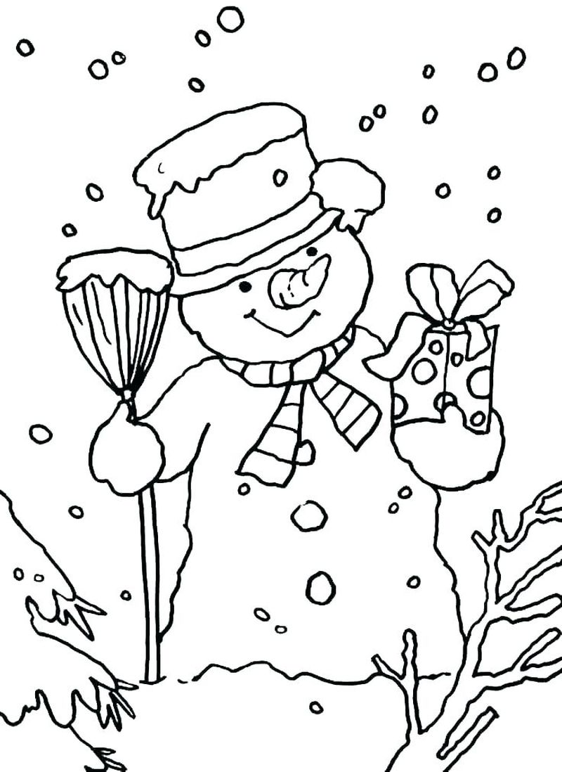 Snowman Coloring Pages Printable Free