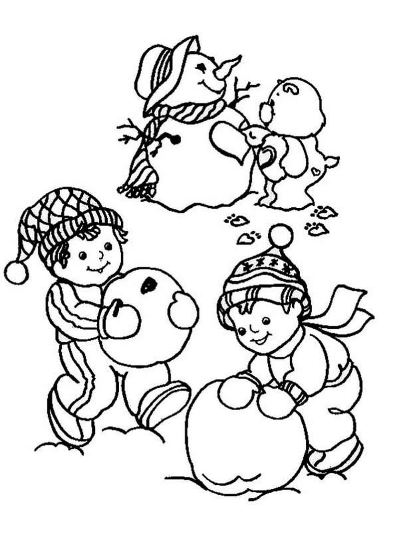 Snowman Coloring Pages Simple