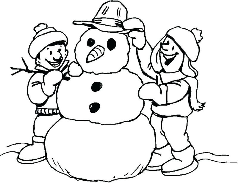 Snowman Colouring In Pages