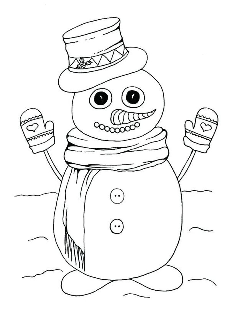 Snowman Colouring Pages To Print