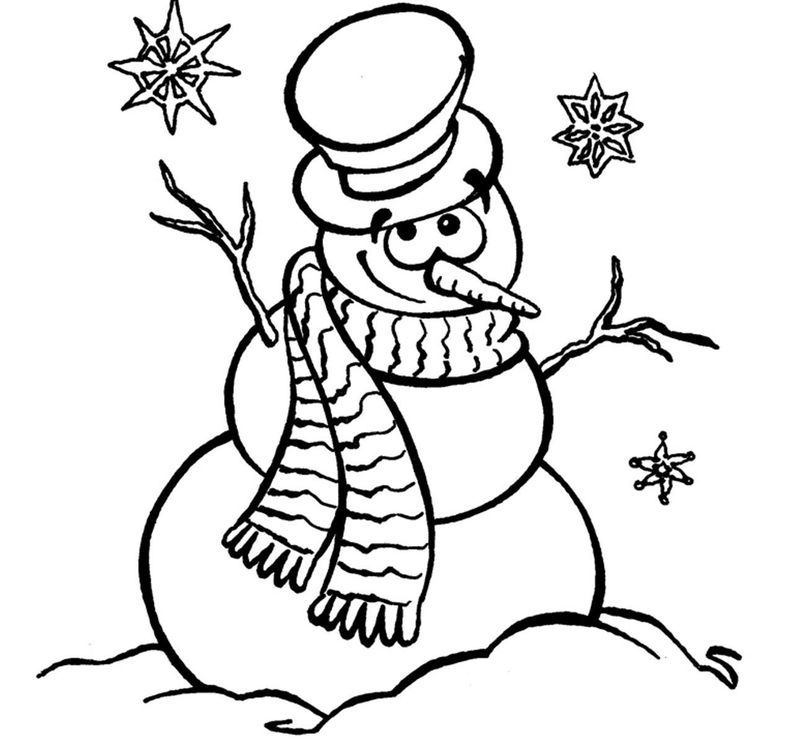 Snowman Mask Coloring Pages