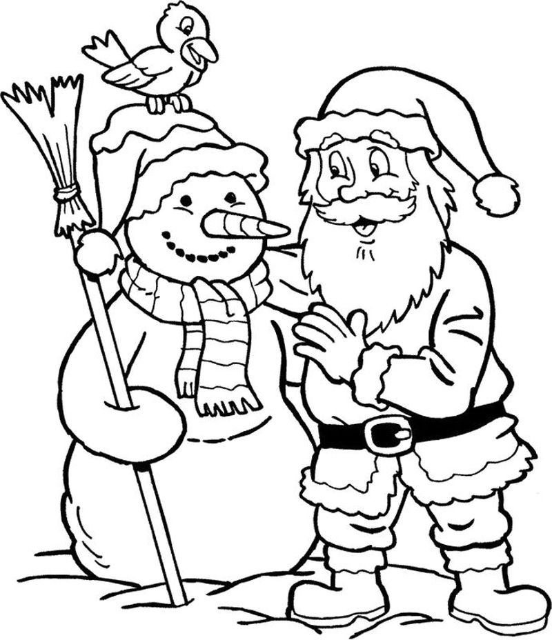 Snowman Outline Coloring Pages