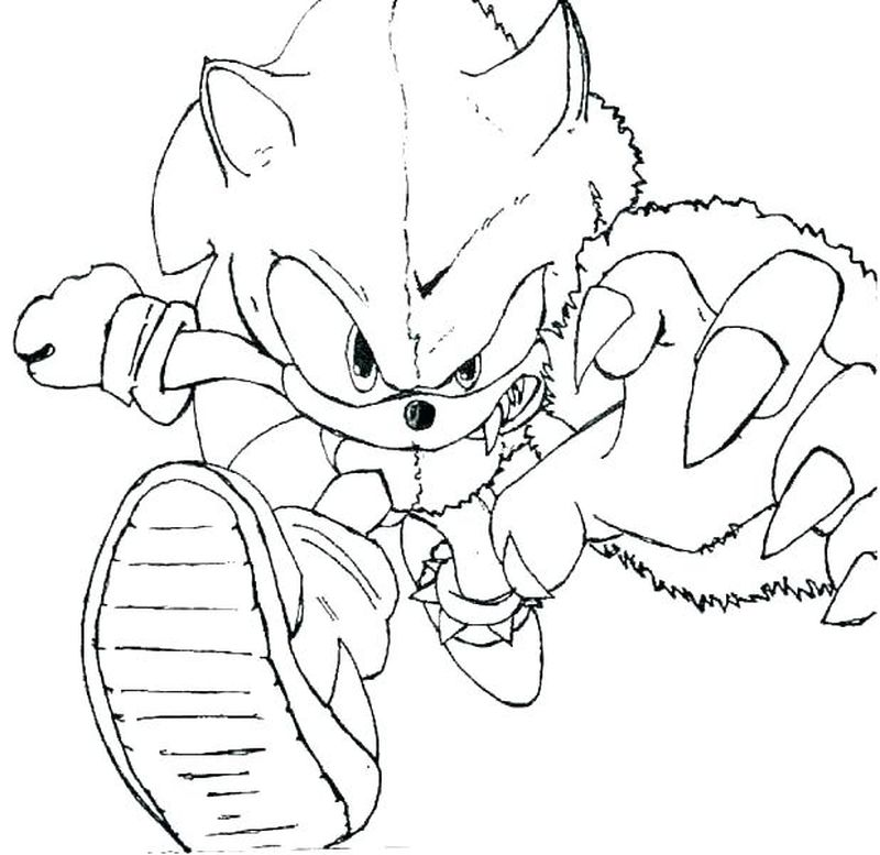 Sonic Coloring Pages Knuckles