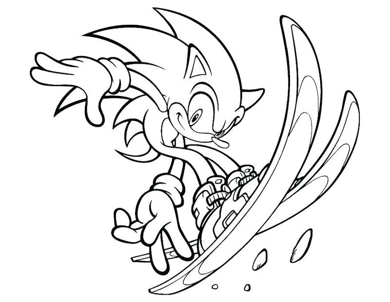 Sonic Coloring Pages Silver