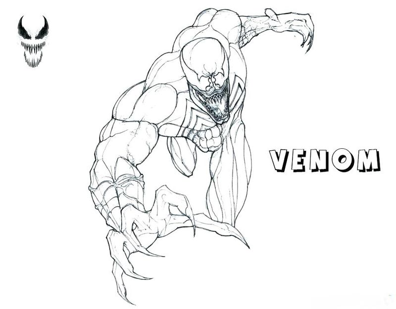 Spider Man Venom And Carnage Coloring Pages