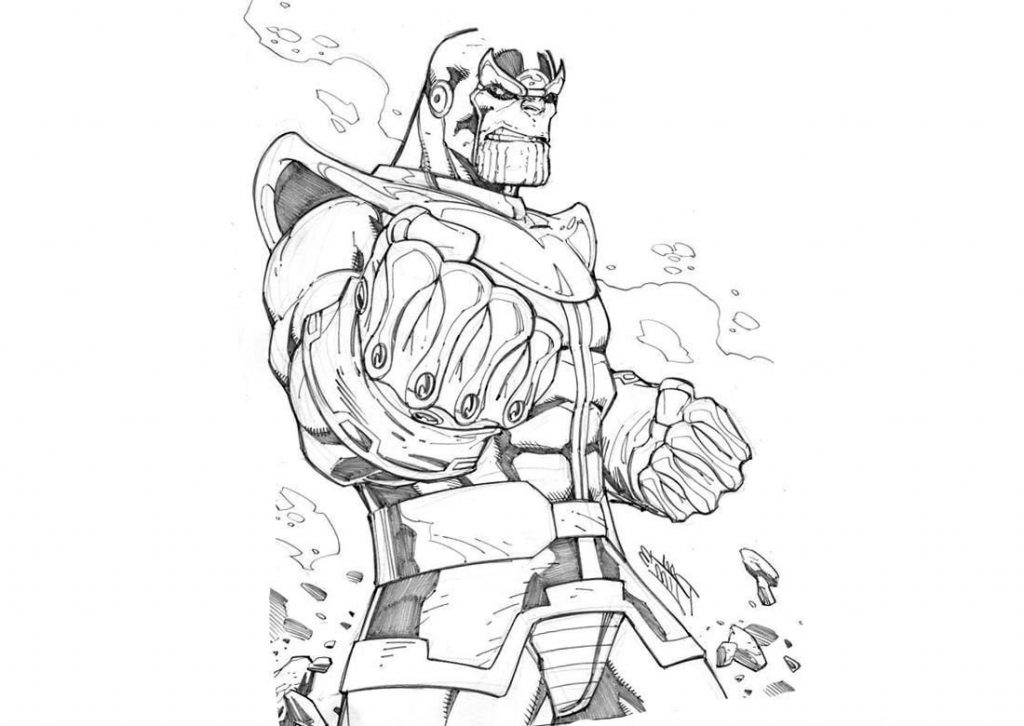 Spider Man Vs Thanos Coloring Pages