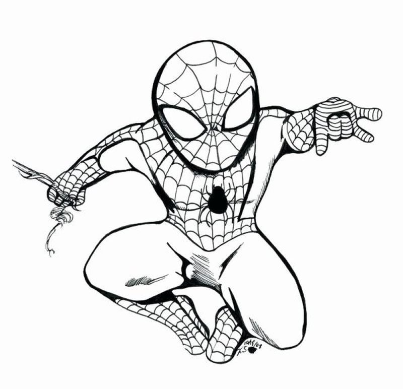 Spiderman Fighting Venom Coloring Pages