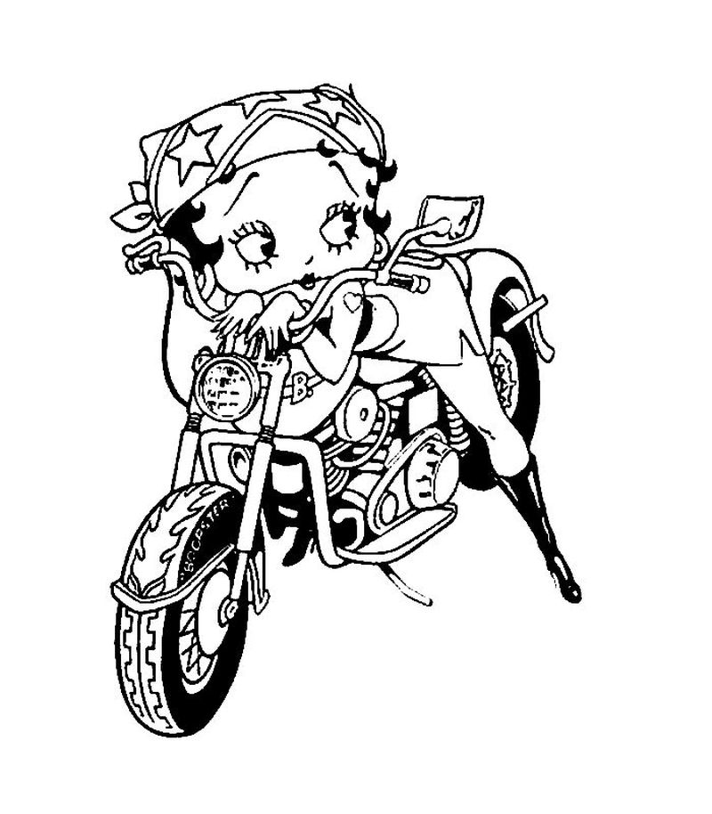 Spiderman Motorcycle Coloring Pages pdf