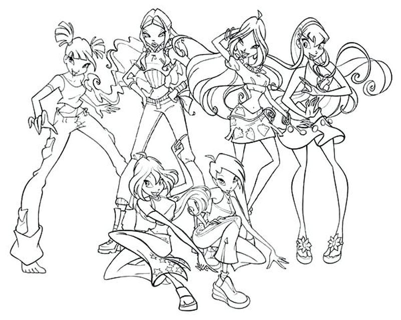 Stella Winx Coloring Pages
