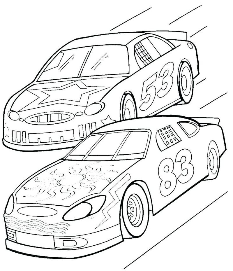 Street Car Coloring Pages