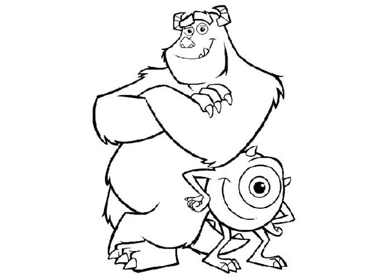 Sully Coloring Pages