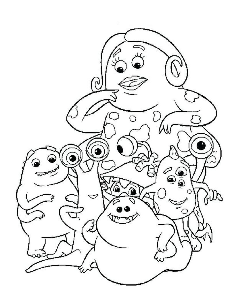 Sully Monsters Inc Coloring Page
