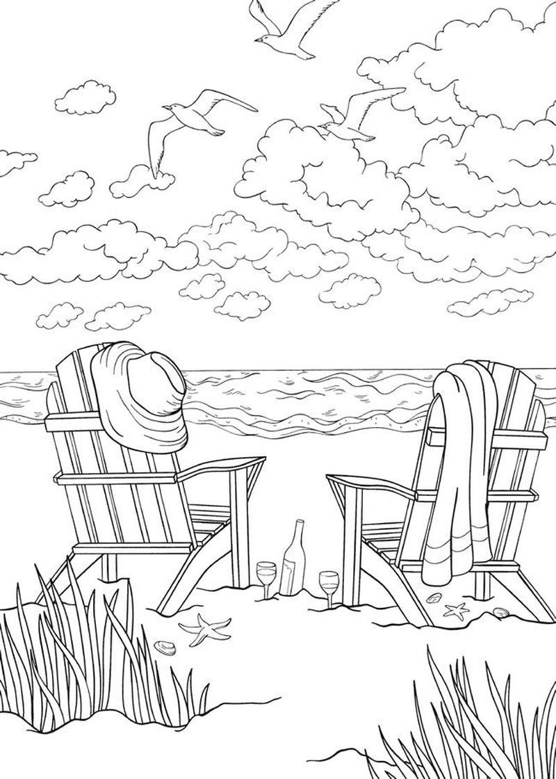 Summer Coloring Pages By Number