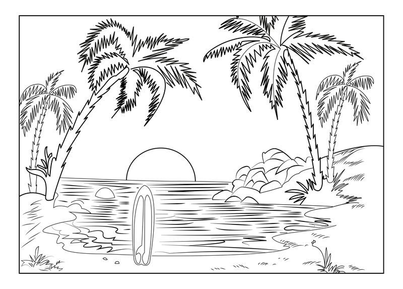 Summer Coloring Pages Crayola