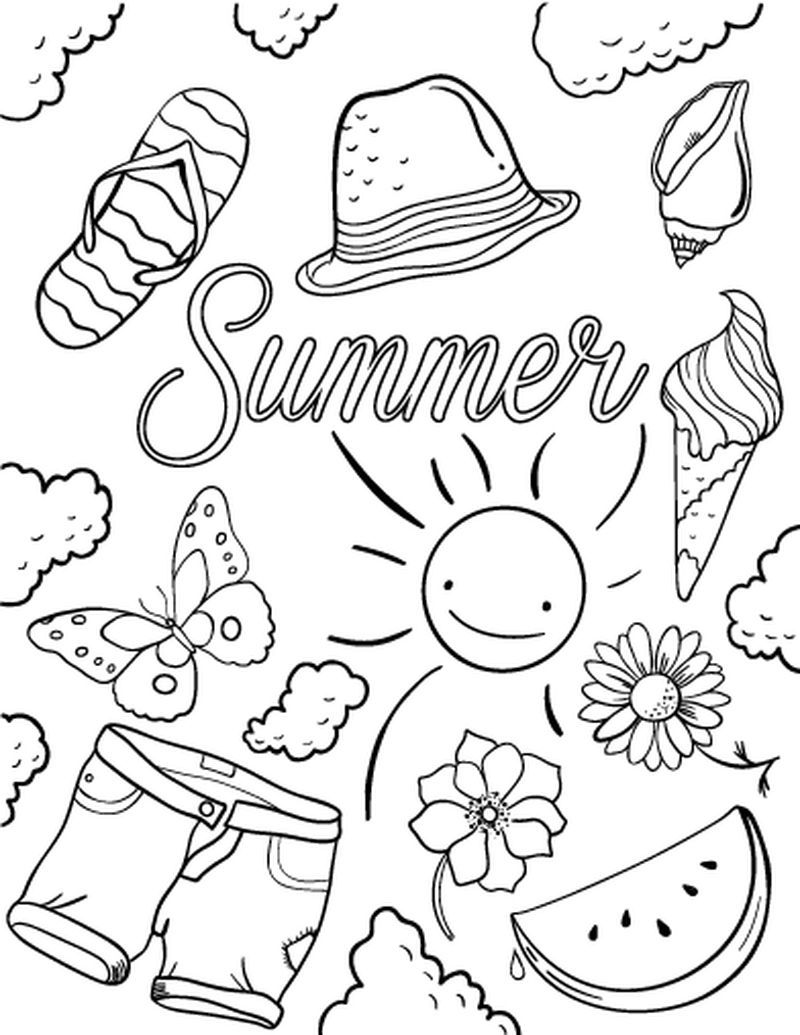 Summer Coloring Pages For Baby