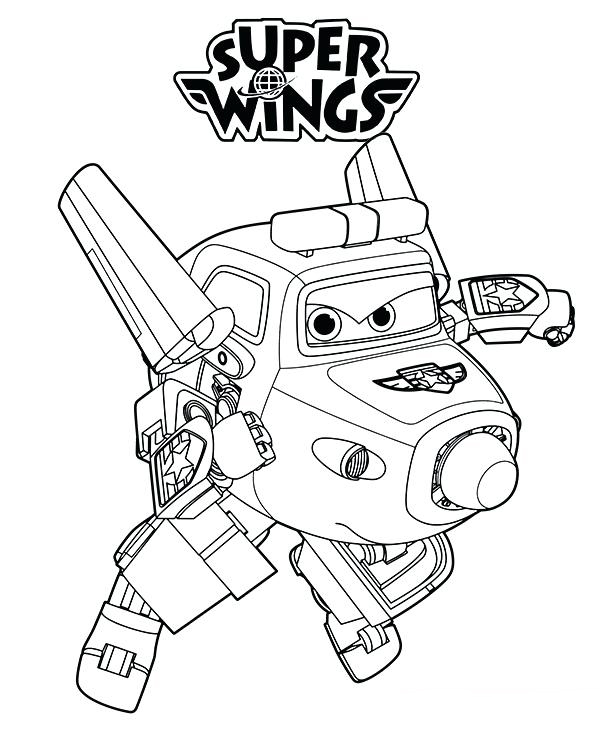 Super Wings Chase Coloring Pages