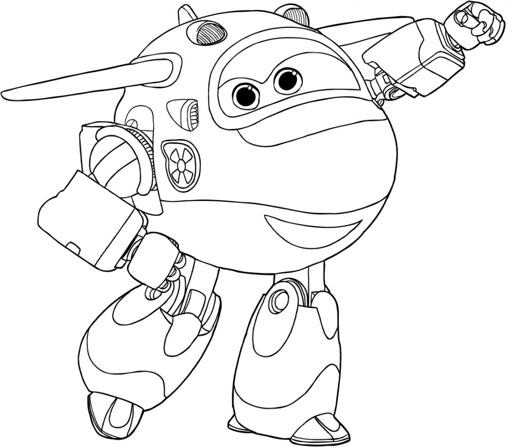 Super Wings Coloring Pages Pdf