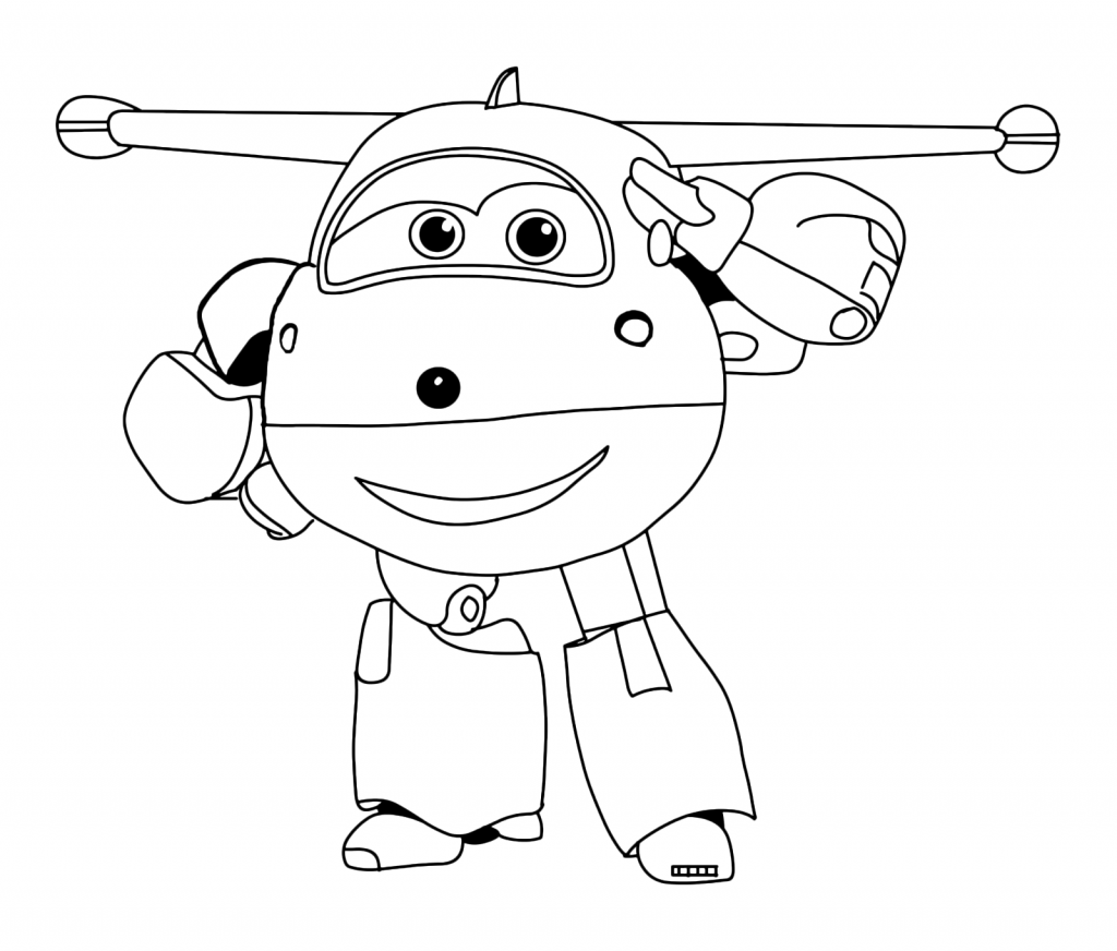 Super Wings Colouring Pages Free
