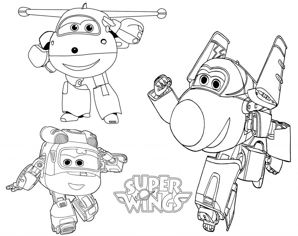 Super Wings Colouring Pages Pdf
