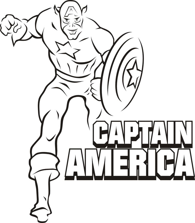 Superman Captain America Coloring Pages