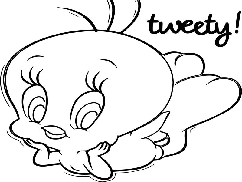 Sylvester And Tweety Colouring Pages
