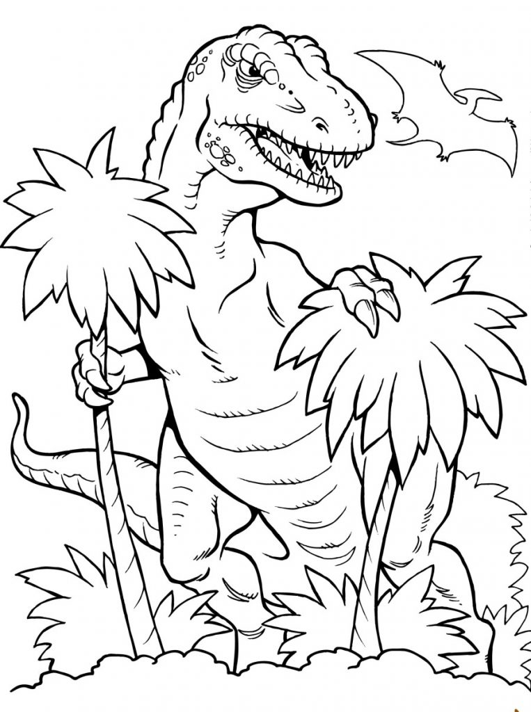 T Rex Colouring Pages