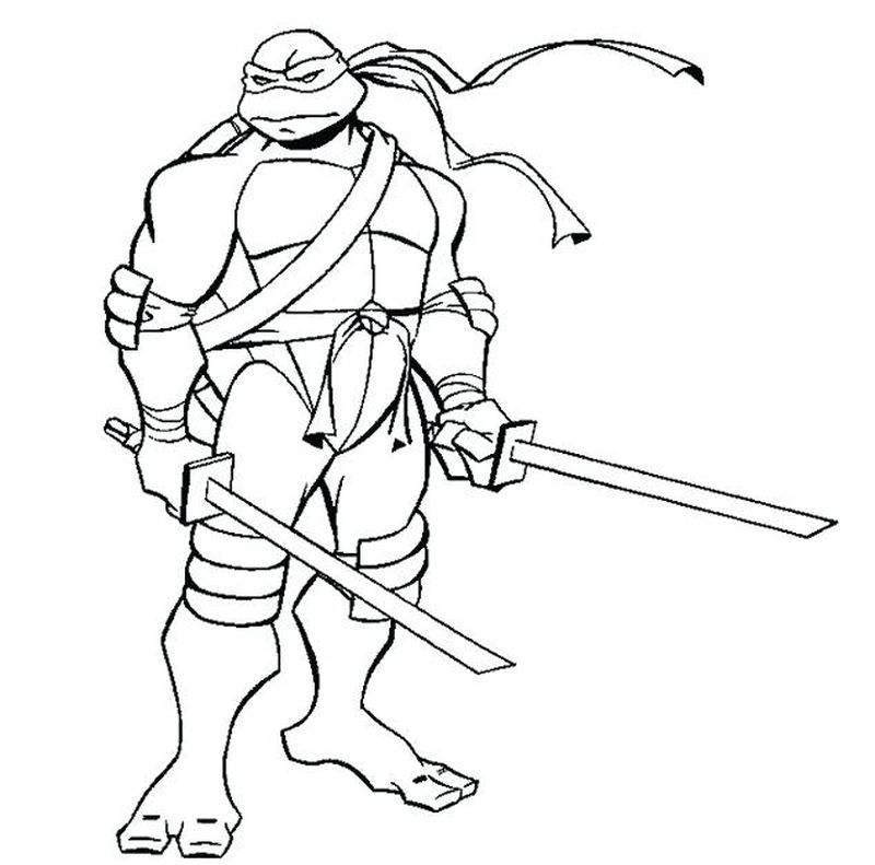 Talena Ninja Turtle Coloring Pages