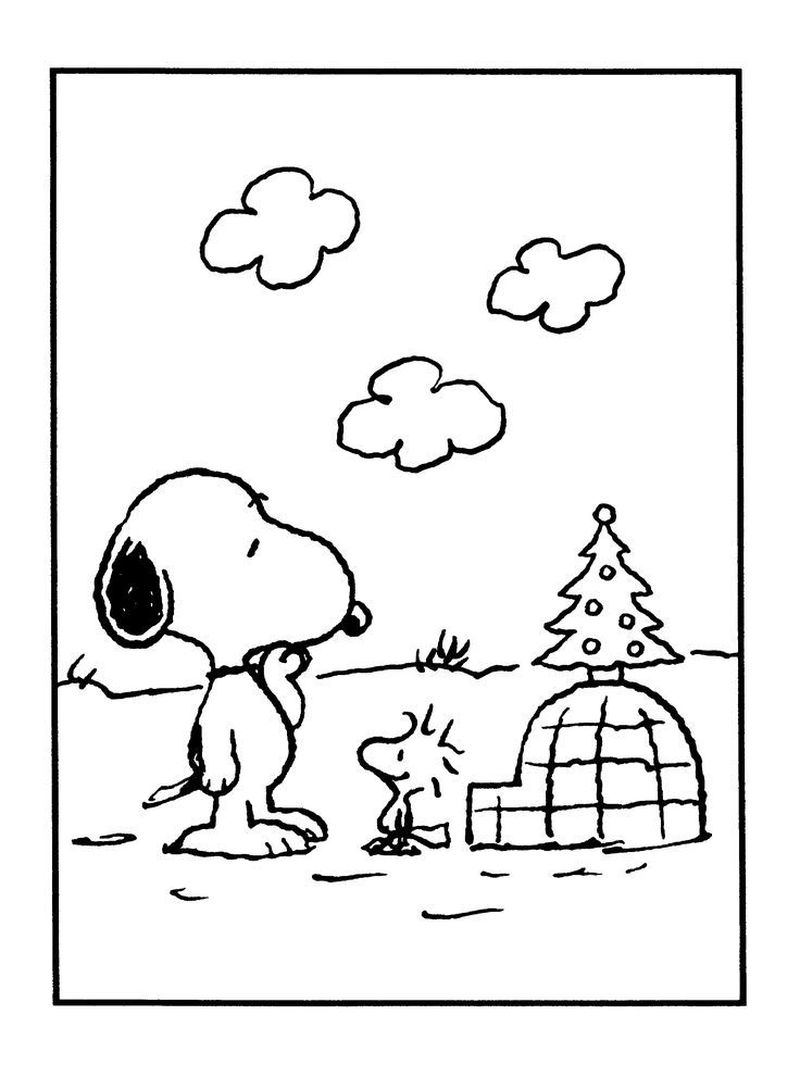 Thanksgiving Snoopy Coloring Pages