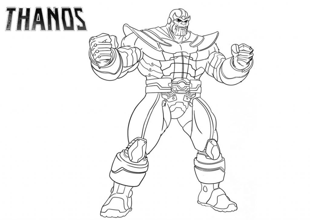 Thanos Coloring Pages Free