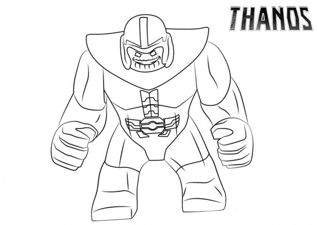Thanos Coloring Pages Infinity War