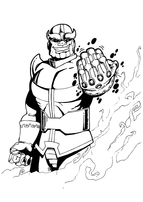 Thanos Coloring Pages Lego