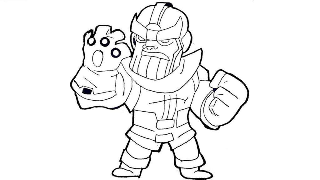 Thanos Coloring Pages Online