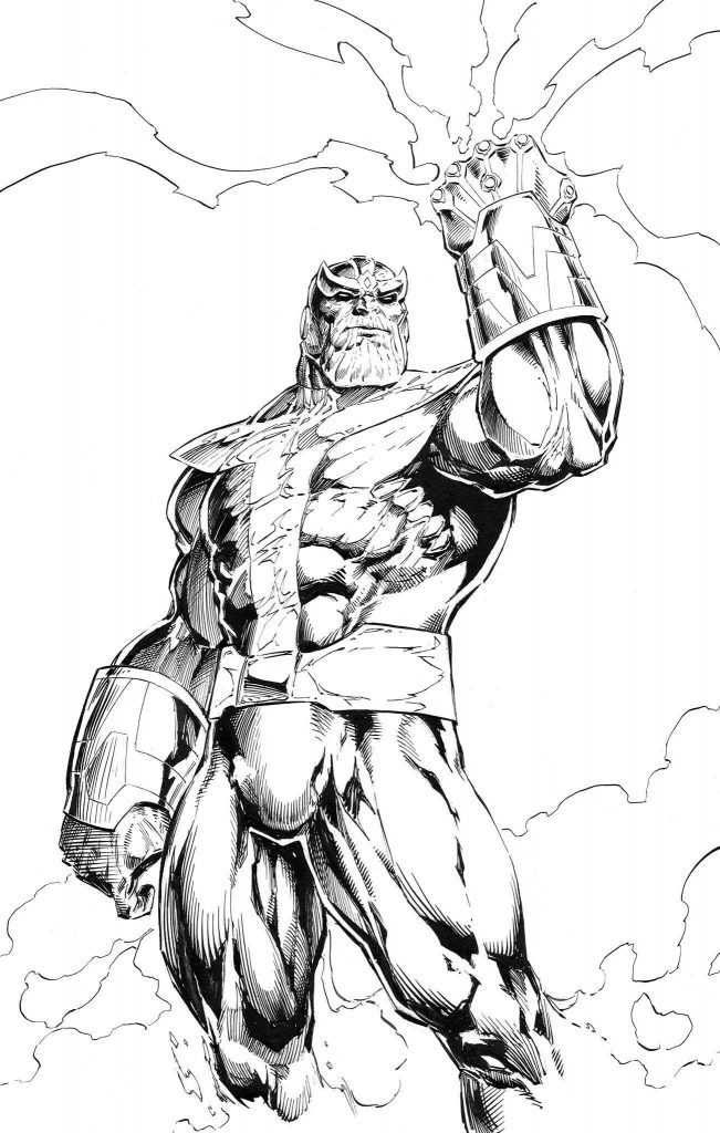Thanos Coloring Pages Pdf