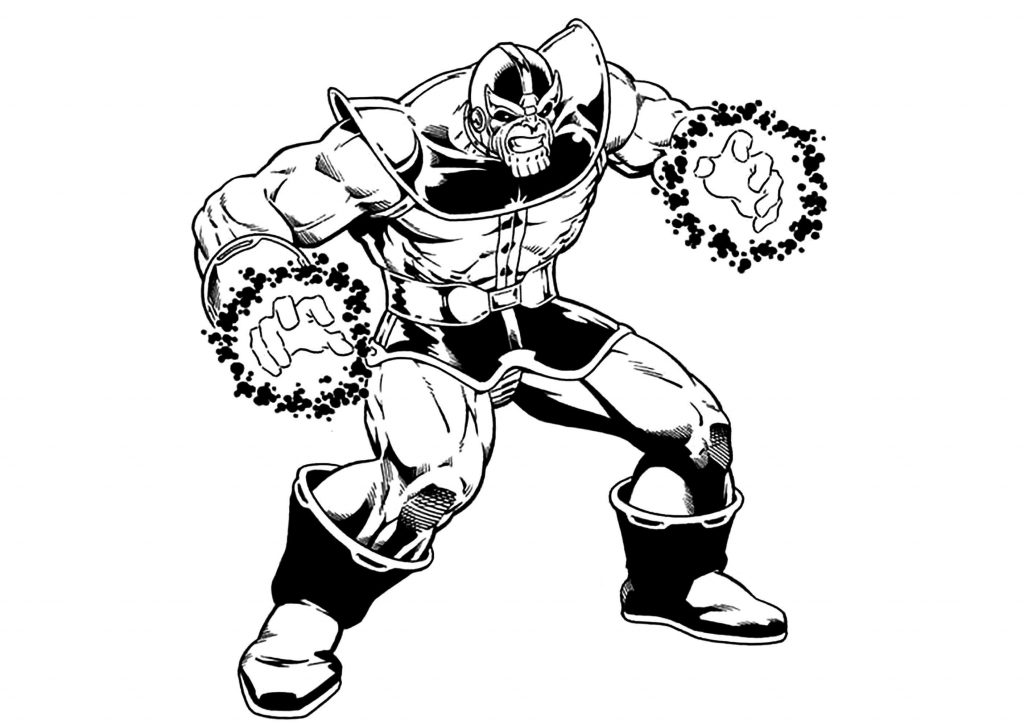 Thanos Coloring Pages Printable