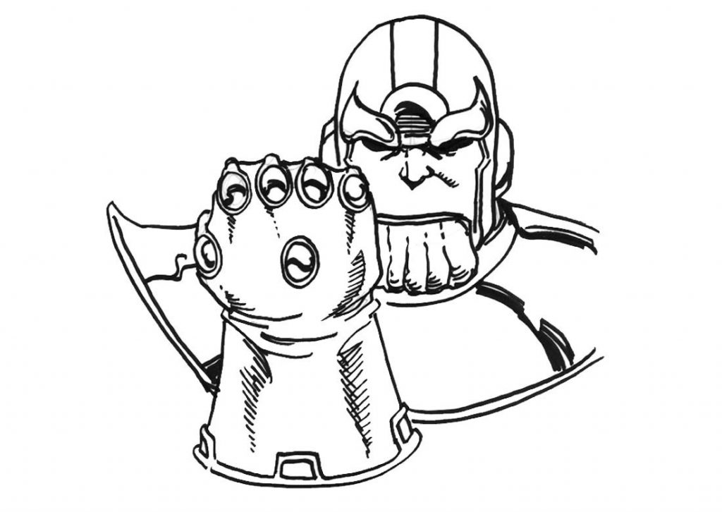 Thanos Endgame Coloring Pages