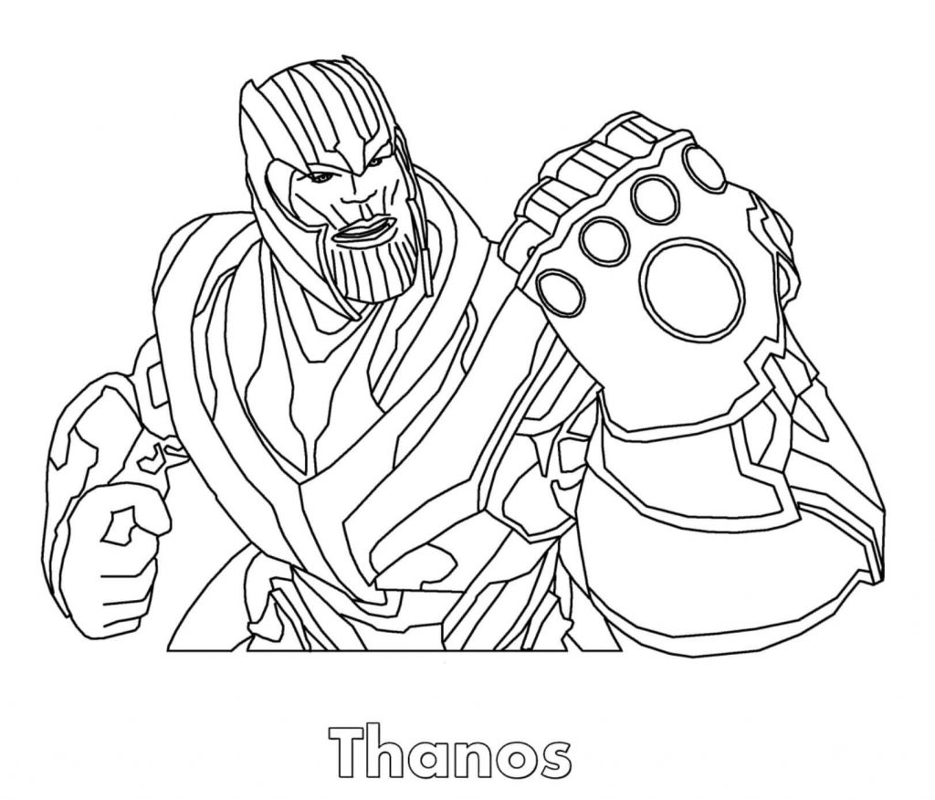 Thanos Face Coloring Pages