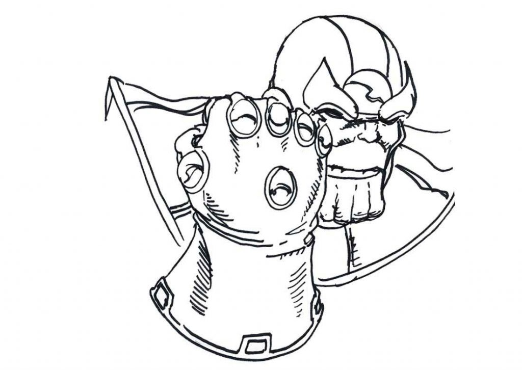 Thanos Glove Coloring Pages