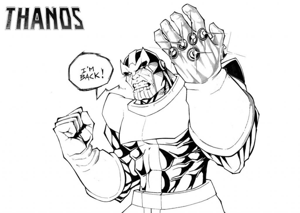 Thanos Hand Coloring Pages