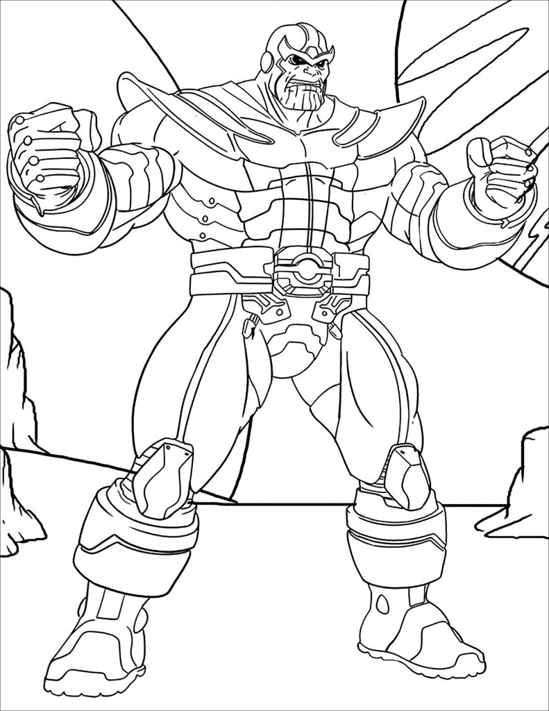 Thanos Infinity Gauntlet Coloring Pages
