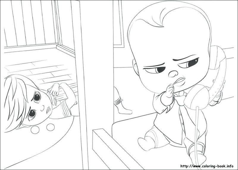 The Boss Baby Free Coloring Pages
