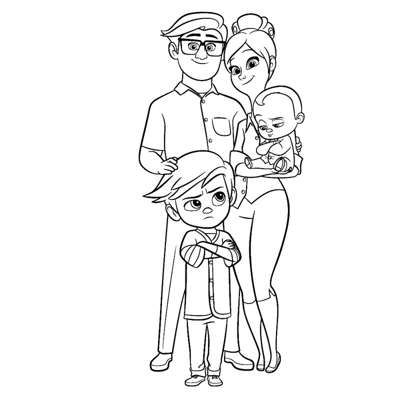 The Boss Baby Staci Coloring Pages