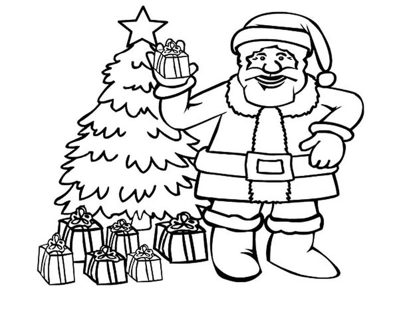 The Christmas Tree Coloring Pages