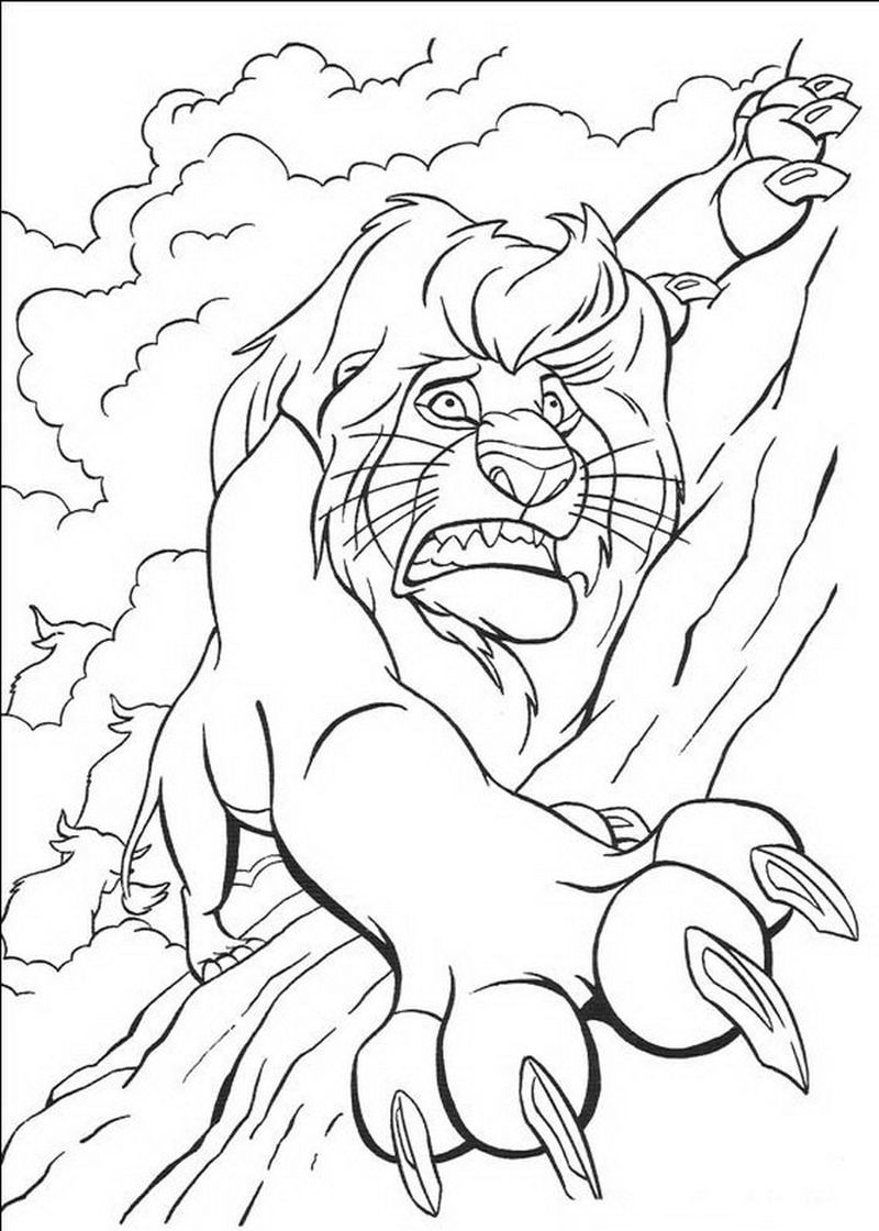 The Lion King Coloring Pages Free Online