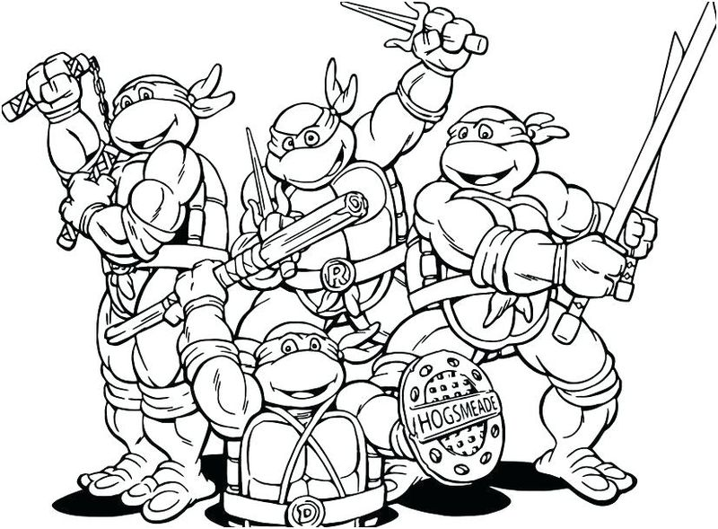 The Ninja Turtles Coloring Pages