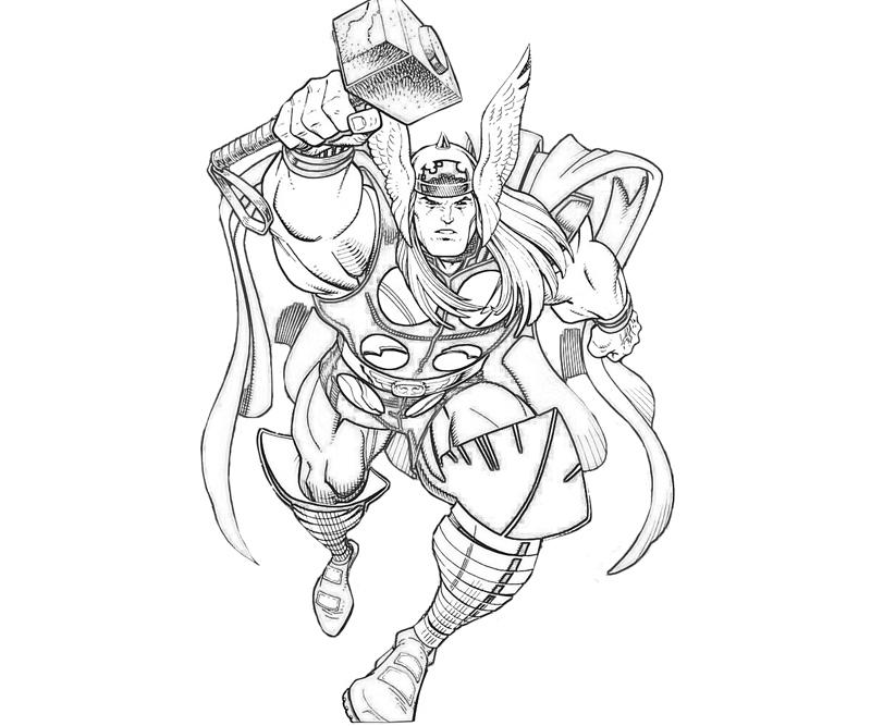 Thor Coloring Pages For Adults