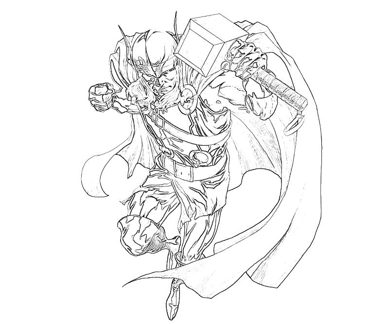 Thor Coloring Pages Pdf